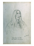 Portrait of Keh-Ci-Pu-Nis-Taw White Buffaloe on the Side-Hill Giclee Print by Gustav Sohon