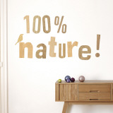 100% nature Wall Decal