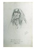 Portrait of Ne-Tannay Giclee Print by Gustav Sohon