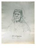 Portrait of Ka-Mat-Spel-Loh Cayuse Chief Giclee Print by Gustav Sohon