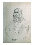 Portrait of Ap-Ye-Cay-E the Skunk Piegan Chief Giclee Print by Gustav Sohon