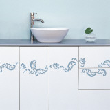 Barok volutes  (Water Resistant Decal) Wall Decal