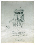 Portrait of We-Ah-Te-Na-Tee-Ma-Ny the Young Chief Head Chief of the Cayuses Giclee Print by Gustav Sohon