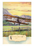 The Martin Biplane, 1909 Wall Decal by Charles H. Hubbell