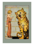 Hungry Tiger and Little Prince Wall Decal by John R. Neill