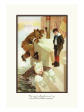 Teddy Roosevelt's Bears: Teddy B and Teddy G in the Water Wall Decal by R.k. Culver