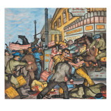 A Bloody Riot on Skid Road at the Corner of Occidental and Washington Streets in Seattle Giclee Print by Ronald Ginther