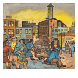 Drunk Being Robbed by Two Women Giclee Print by Ronald Ginther