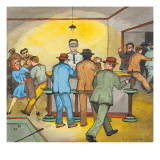 A Raid on a Gambling Place in Seattle Giclee Print by Ronald Ginther