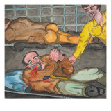 Three Men in the `Time Tank&#39; Giclee Print by Ronald Ginther