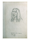 Portrait of Ou-Mah-Sis-Tsek-Se-Na-Cou Big Snake Piegan Giclee Print by Gustav Sohon
