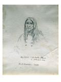 Portrait of Big Canoe Or-Tunta Tle-A or Nek-Hal-Tsa Giclee Print by Gustav Sohon