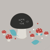 Mushrooms (Water Resistant Decal) Wall Decal