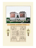 Whittier Apartment Hotel Wall Decal by Geo E. Miller
