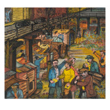 Hooverville Residents Living in Shacks Receive Pamphlets and Counsel from Unemployed Organizers Giclee Print by Ronald Ginther