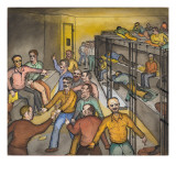Some Men Lying on Bunks, Some Standing and Talking, Others Sitting Giclee Print by Ronald Ginther