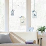 Bird Cages Window Decal Sticker - Pencere Çıkartmaları