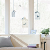 Bird cages  (Window Decal) Decalque em parede