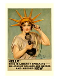 Hello! This is Liberty Speaking Wall Decal by Z.p. Nikolaki