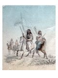 Bloods Come in the Council, Blackfoot Country, 1855 Giclee Print by Gustav Sohon