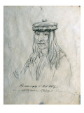 Portrait of He-Man-I-Pilp or Red Wolf Nez Perce Chief Giclee Print by Gustav Sohon