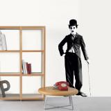 Charlie Chaplin Kalkomania ścienna