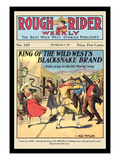 Rough Rider Weekly: King of the Wild West's Blacksnake Brand Wall Decal by C.j. Taylor