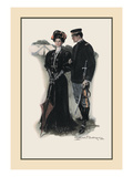 The General and the Lady Wall Decal by Clarence F. Underwood
