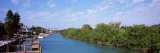 Boats Moored at a Canal, Gulf Intracoastal Waterway, Osprey, Sarasota County, Florida, USA Wall Decal by  Panoramic Images