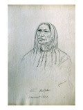 Portrait of Three Bulls Blackfoot Chief Giclee Print by Gustav Sohon