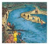Opening Day on the Cedar River Giclee Print by Ronald Ginther