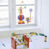 Cyrk Naklejka na okno