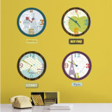 City Clocks Wall Decal