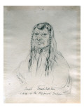 Portrait of Joseph Too-We-Tak-Hes Chief of the Nez Perce Indians Premium Giclee Print by Gustav Sohon