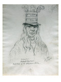 Portrait of Lawyer Hal-Hal-Tlostsot Head Chief of the Nez Perce Tribe Premium Giclee Print by Gustav Sohon