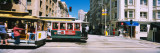 Two Cable Cars on a Road, Downtown, San Francisco, California, USA Wall Decal by  Panoramic Images