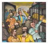 New Inmates (`Fish on the Line') Being Put into Jail (`Time Tank') Giclee Print by Ronald Ginther