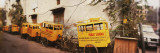 Public School Rickshaws Parked in Front of a Building, Old Delhi, Delhi, India Wall Decal by  Panoramic Images