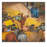 The Seattle Post Intelligencer Strike of 1936 Giclee Print by Ronald Ginther