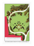 The Flower Garden at Mount St. Vincent, Central Park, New York Wall Decal by J. Weidermann