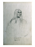 Portrait of Nen-Ne-As-Ta-Cui Chief Mountain Piegan Chief Giclee Print by Gustav Sohon
