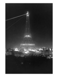 Eiffel Tower at Night Wall Decal by William H. Rau