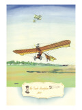 The Grade Monoplane, 1909 Wall Decal by Charles H. Hubbell