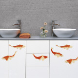 Koi carps (Water Resistant Decal) Wall Decal