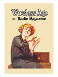 Wireless Age: The Radio Magazine Wall Decal by D. Gross