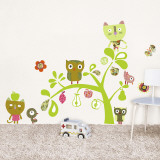 Cats, Owls, birds Wall Decal