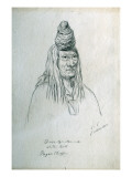 Portrait of O-Nes-Tah-Stam-Mek White Bull Pagan Chief Giclee Print by Gustav Sohon