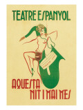 Theater Espanyol Wall Decal by A. Sunyol