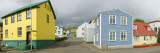 Buildings Along a Street, Akureyri, Iceland Wall Decal by Panoramic Images 