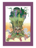 Oz on Ruggedo's Head Wall Decal by John R. Neill